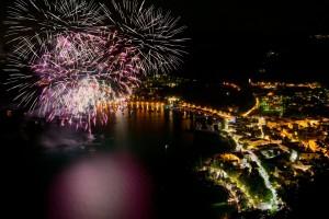 21761843 - fireworks in the bay of garda